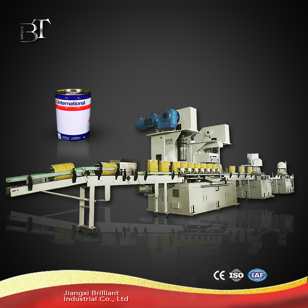 Automatic round tin can making machine