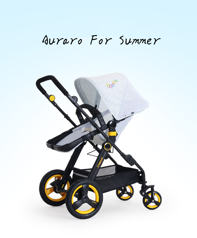 Summer Luxury Baby Stroller Parts Car Seat Bassinet Carrycot Folding Travel System Infant Prams