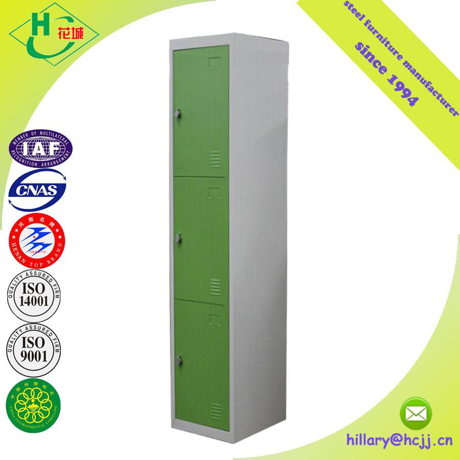 KD Structure Double Colour Cheap 3 Door Metal Furniture Bedroom Wardrobe Locker Almirah Designs for