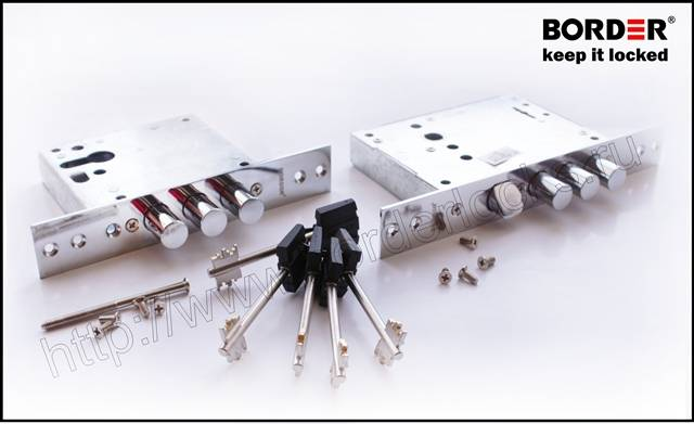 Double mortise universal lock set with different locking mechanisms
