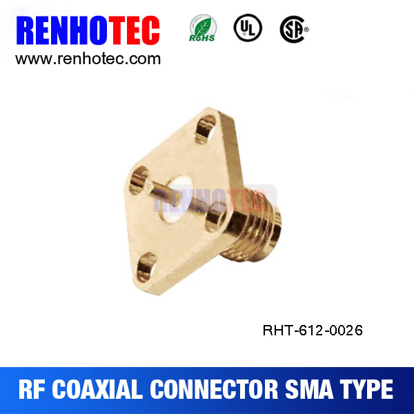 SMA female flange connector