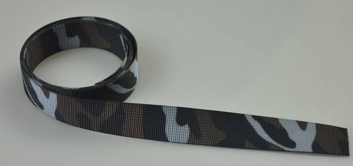 Polyester webbing in sublimation