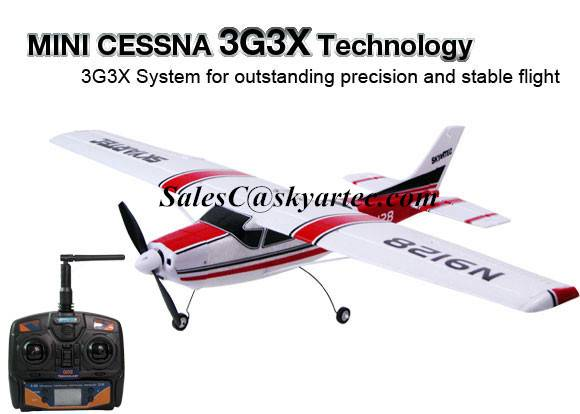 Mini Cessna rc airplane 2.4GHz Brushless RTF(3G3X Version)