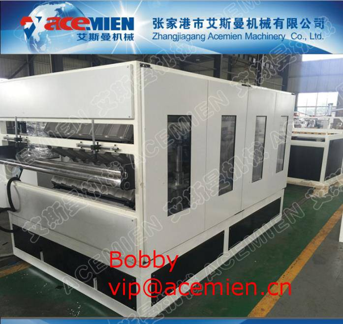 paving speed fastest, installation cost minimum- double layer plastic Roof sheet machine