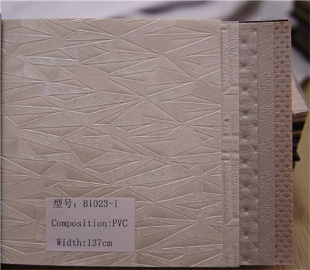 2015 new design high quality pvc leather with pattern design for decorative