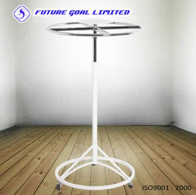 Round Adjustable Garment Rack / Metal Display Stand