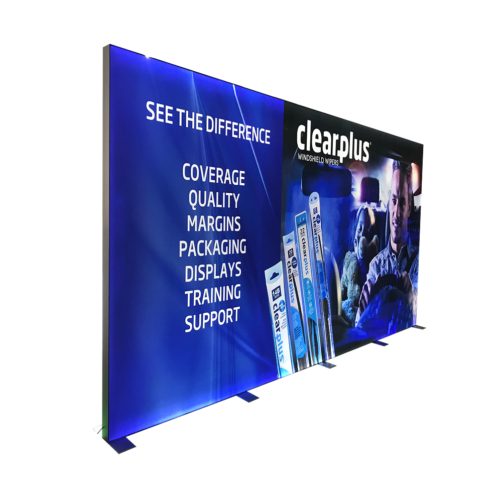Display usage floor standing double sided illuminated outdoor led light box