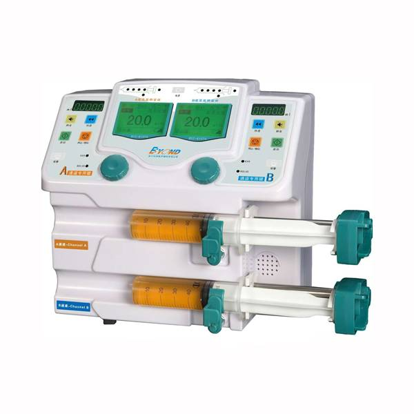 Good price of dual channel syring pump BYZ-810 with drug for patient