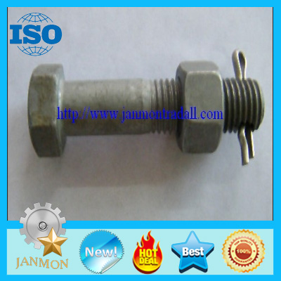 Customized Special Zinc plated Hex Head Bolt With Hole in head(as drawing)
