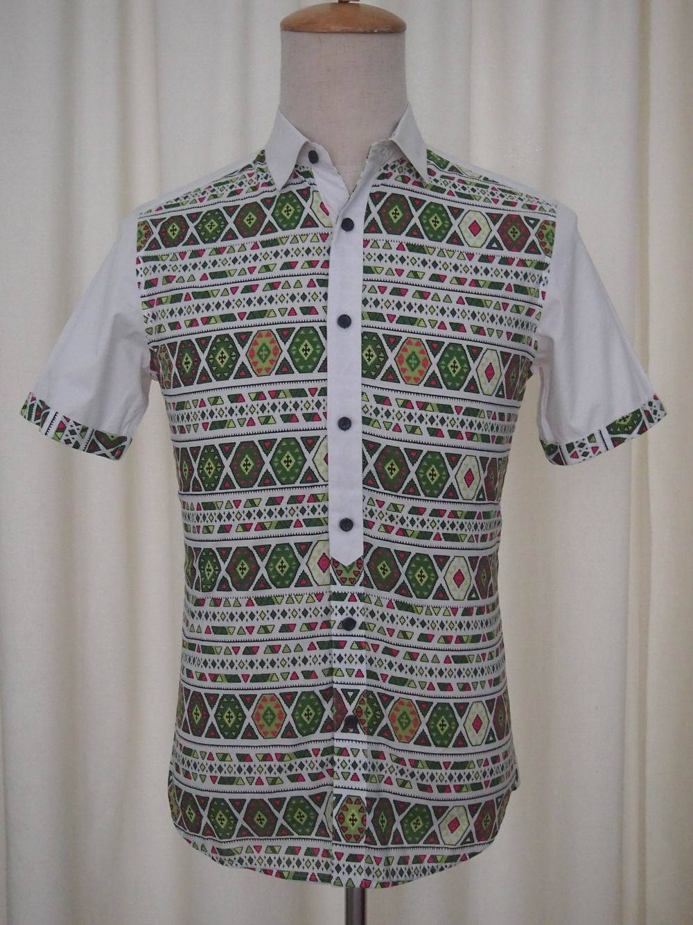 Summer Men's Short Sleeve Shirt 100% cotton Printing series 2015Fashion NEW