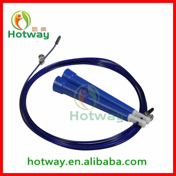 Wire Cable Ergonomic Handles Crossfit Skipping Jump Rope