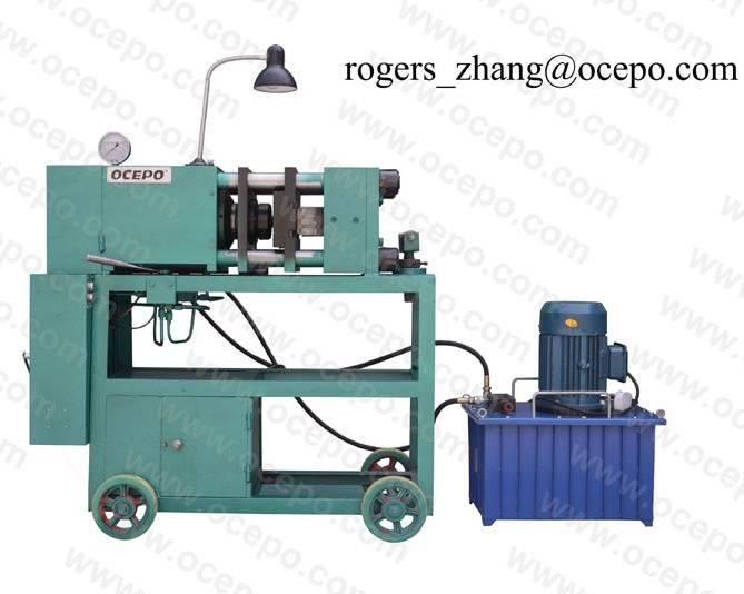 Rebar Upset forging and thread cutting machine