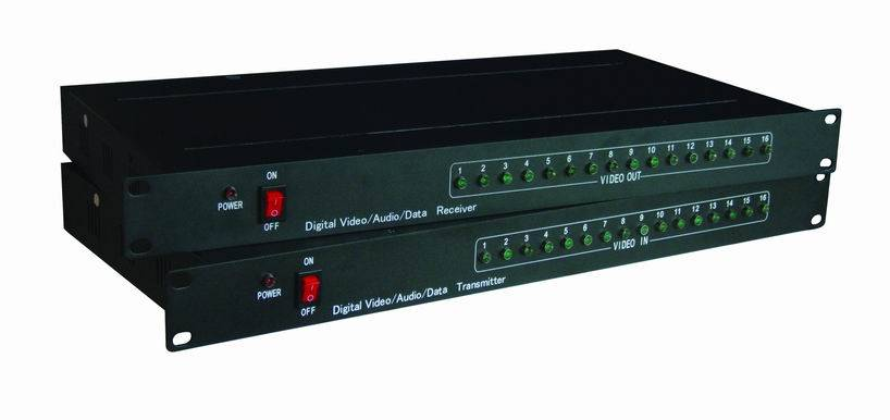 16 Channels Digital Video / Audio Optic Transmitter And Receiver