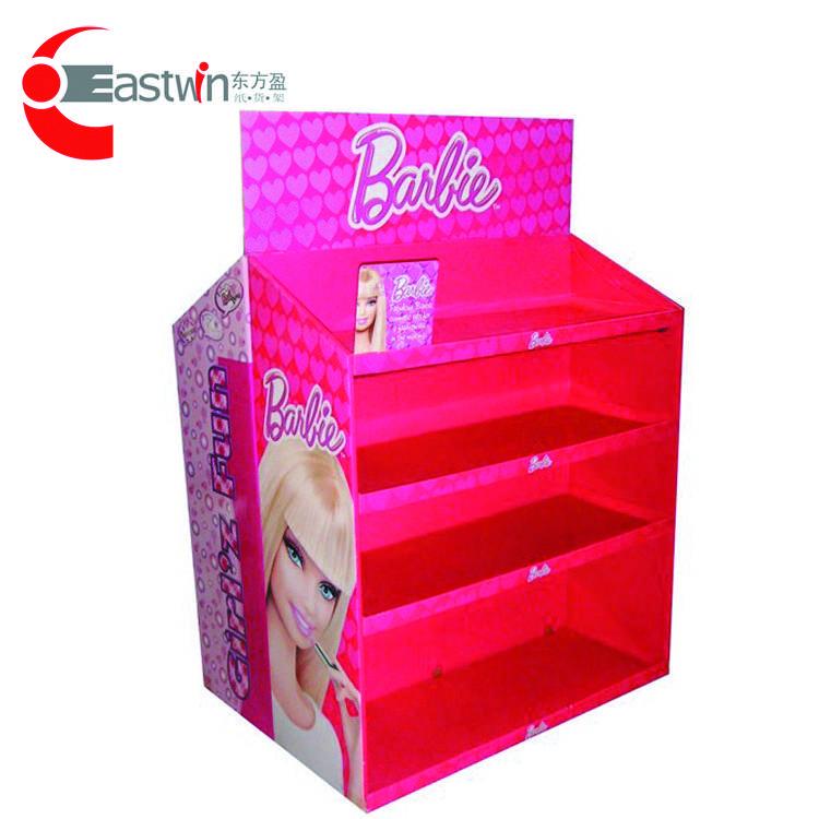 Corrugated Carboard/crimp Paper Shelf Floor Display Stand Pop