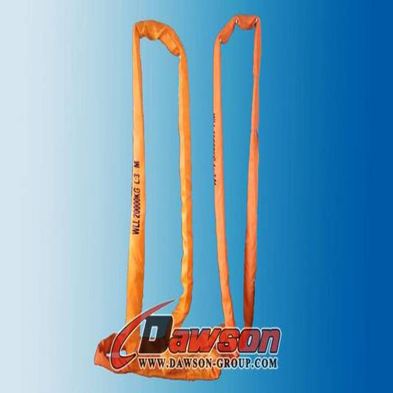 EN1492-2 20t heavy duty polyester lifting round sling