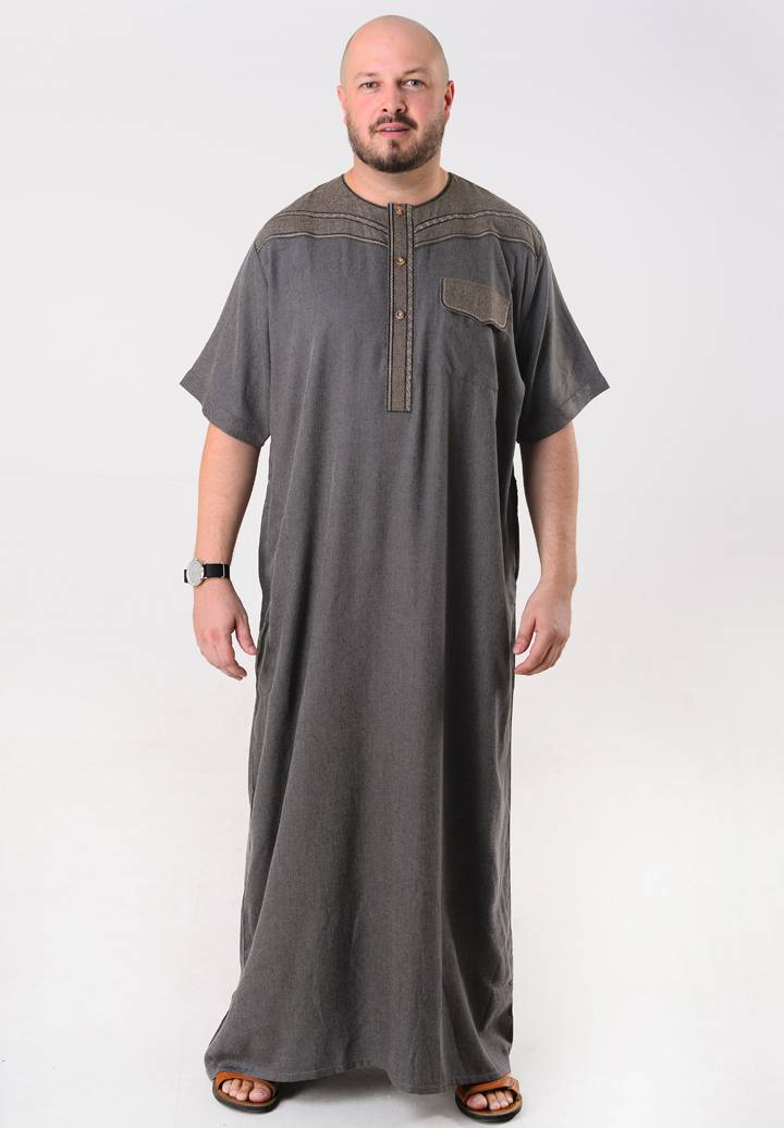 Moroccan Thobe for Men Short Sleeves