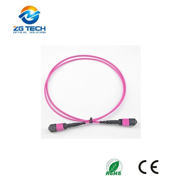 OEM 8 12 24fibers 40G/100G OM4 MTP MPO Optic fiber Trunk Cables Patch Cord