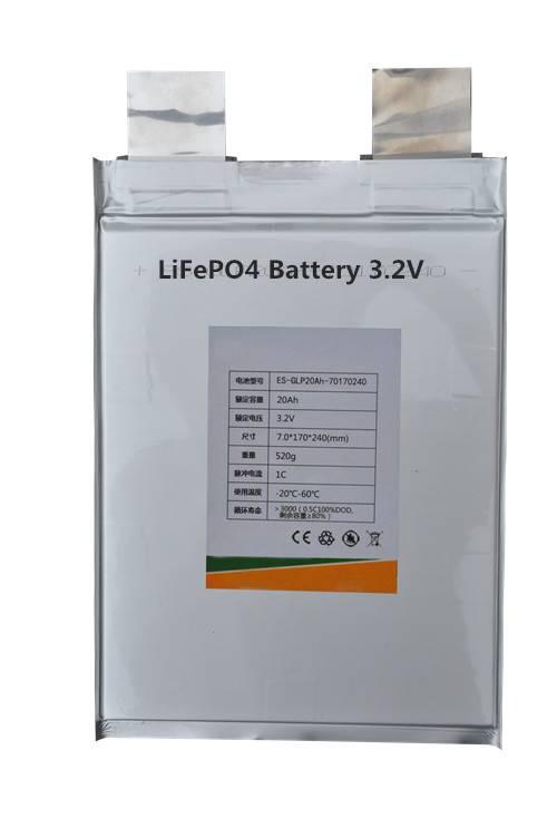 3.2V 20AH Power Battery , Li-ion Battery 3.2V