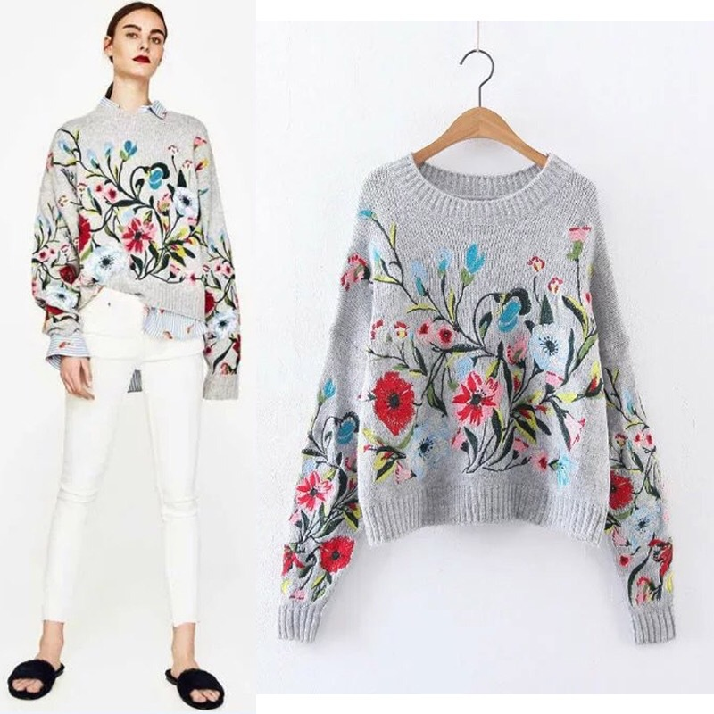 China Factory Wholesale Export All Kinds Of Embroidered Knitwear