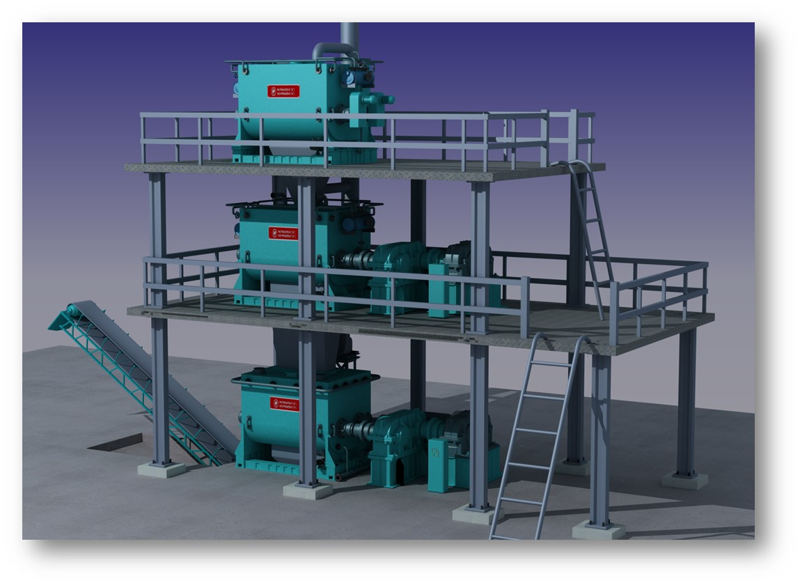 HP vertical continuous kneading machine