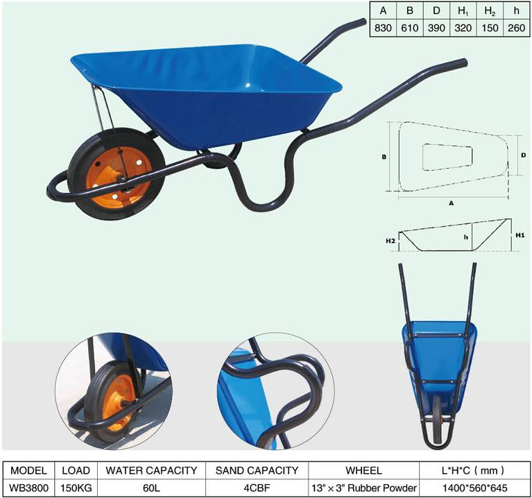 Direct Manufacturer  Wheelbarrow Qingdao
