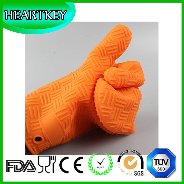 RENJIA silicone heat resistant grilling bbq glove silicone heat resistant baking gloves silicone hea