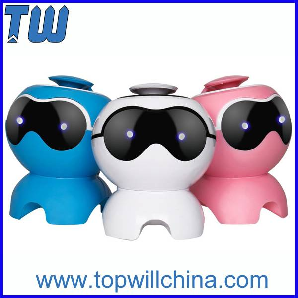 Cute Dog Design Stereo Audio Bluetooth Portable Speaker