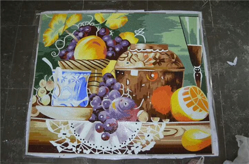 ZF-JH059 Fruit tray art glass mosaic murals patterns wall decoration