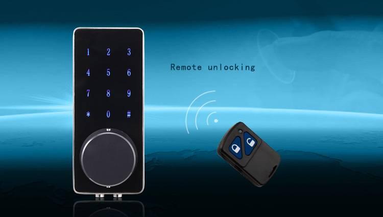 Security keypad door lock 4 in 1 electronic password intelligent remote door lock for home or office