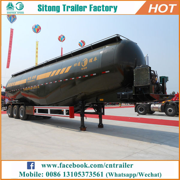 China factory direct cement trailers dry silo trailer bulk cement tank trailer