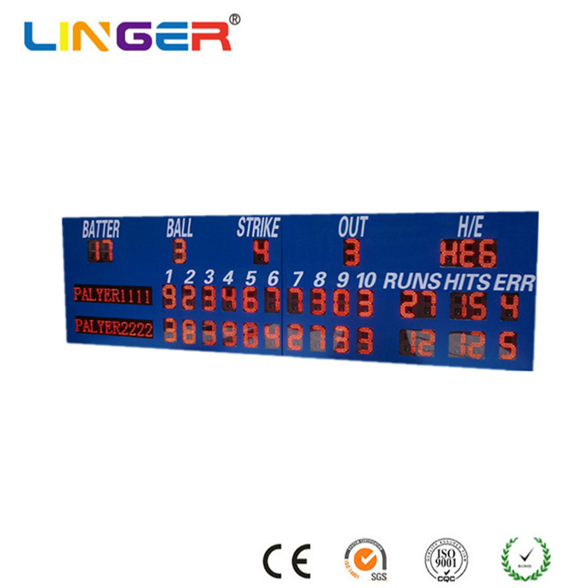 Outdoor Electronic Baseball Scoreboard with Wireless Control