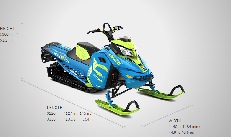Brand new 2017 Ski-doo snowmobile Freeride 146