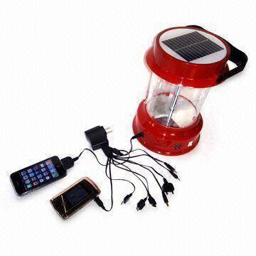 Solar Lantern with  Mobile phone chargers & Radio