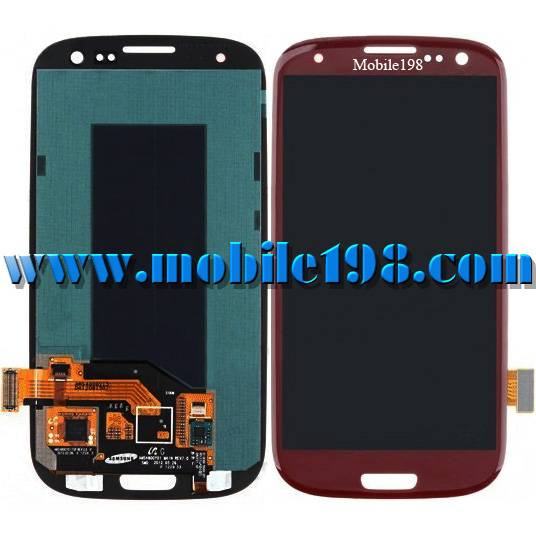 LCD Screen for Samsung Galaxy S3 Gt-I9300 Red