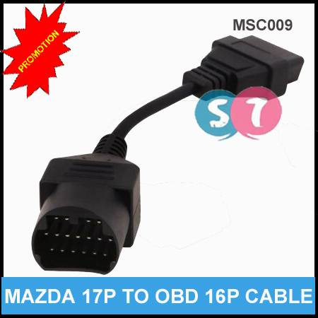 17 Pin to OBD OBDII 16 Pin Cable for Mazda Diagnostic Adapter Cable Male to Female Extension Cable