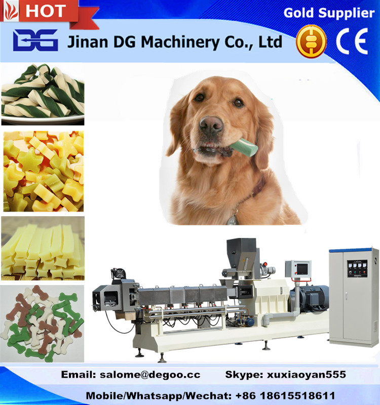 Pet dog chewing/treats food making machine production line
