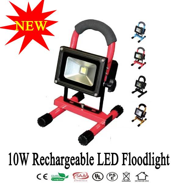 10W Portable LED Floodlight Emergency Rechargeable Lamp Camping Light Lamp Waterproof +2 Charger