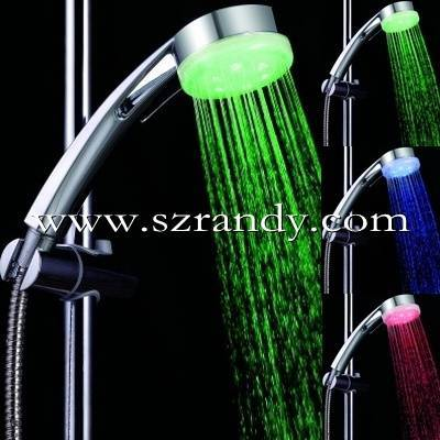 temperature sensor led shower/hand shower head/massage shower head