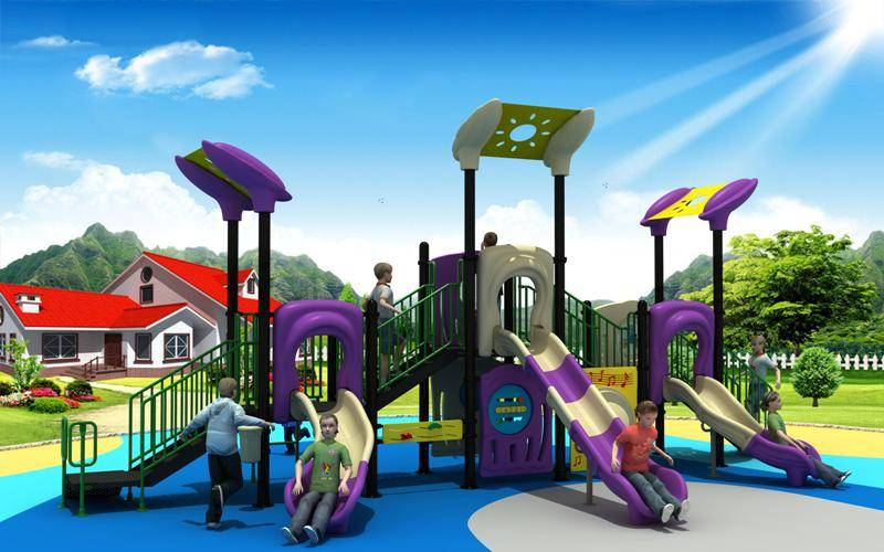 WD-XD109 Modern Series Outdoor Playground Combined Slide, GS certificated