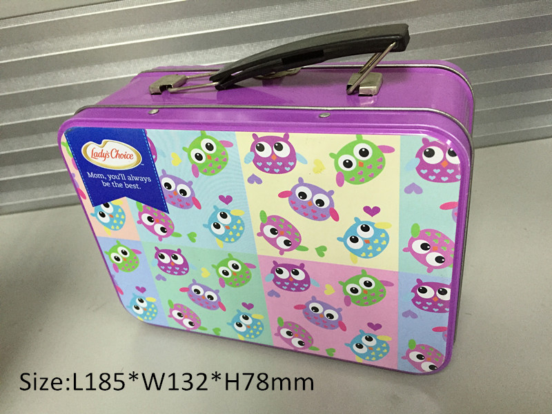 Tin Lunch Box with Handle