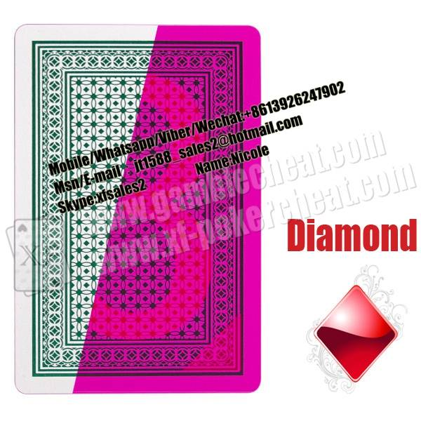 XF Lion 100% Plastic Cards Invisible Playing Cards For Contact Lenses Invisible Ink Glasses Magic Tr