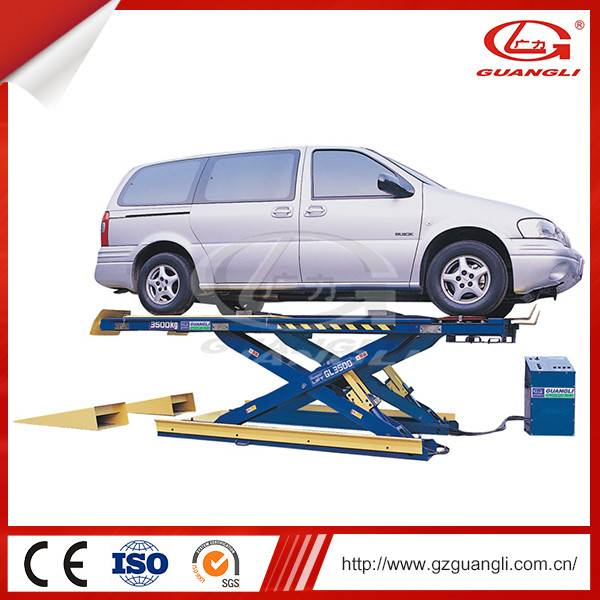 Chinese Professional Guangli Factory Hydraulic Auto lift 3500kg Scissor Car Lift