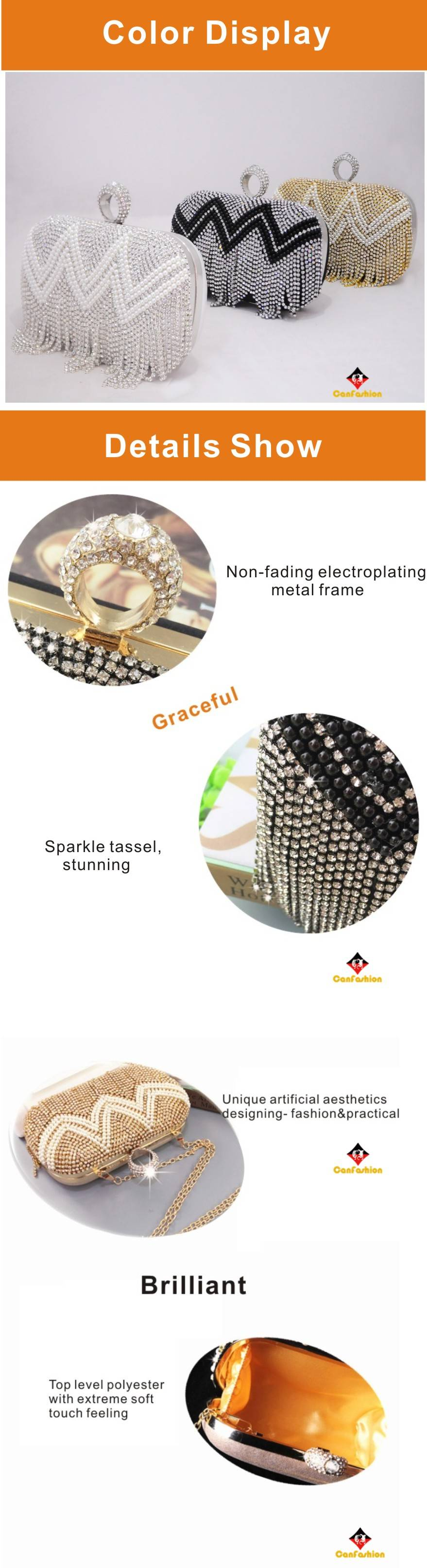Brand New Dazzling Sequins Travel Cosmetic Makeup Clutch Bag Purse Evening Party Handbag