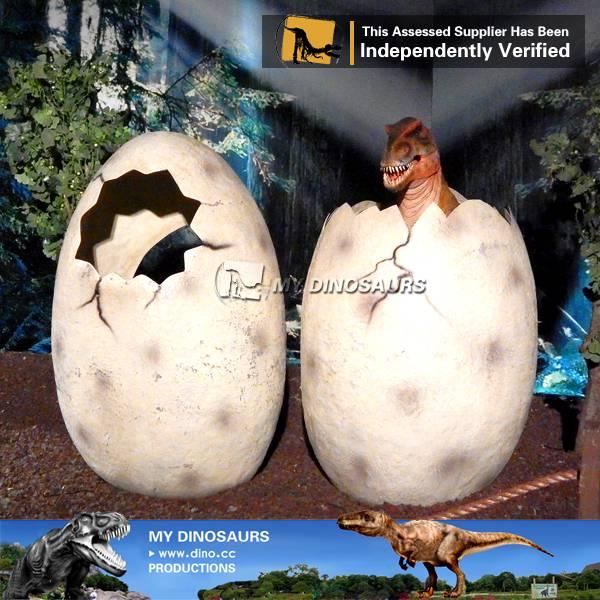Amusement park life size dinosaur eggs