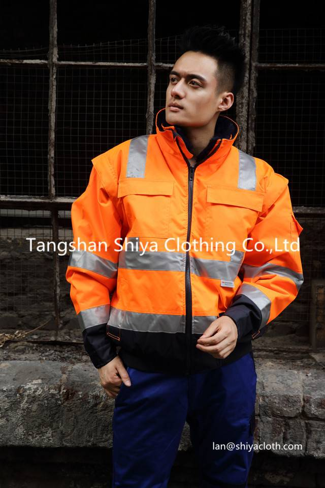 reflective warm safety workwear uniform for winter