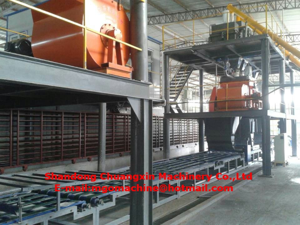 Decorative fireproof mgo sandwich wall panel machine for mgo board production line