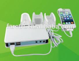 4 ports security display and charge stand alarm for merchandise for mobile merchandise retail open d