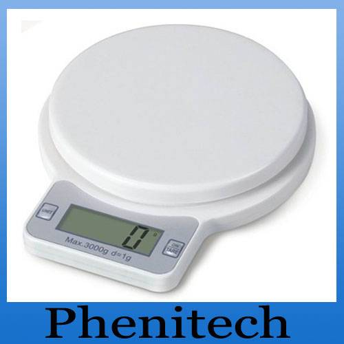 electronic LCD display kitchen scale ( platform 5kg d/0.5g)