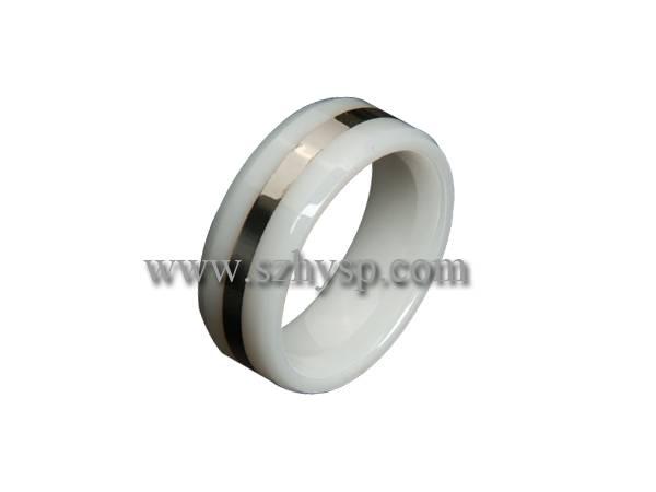 Ceramic Ring RIS005 (925 silver inlaid)