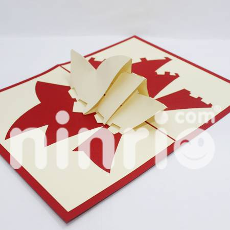 Sydney theater Pop Up Card Handmade Greeting Card